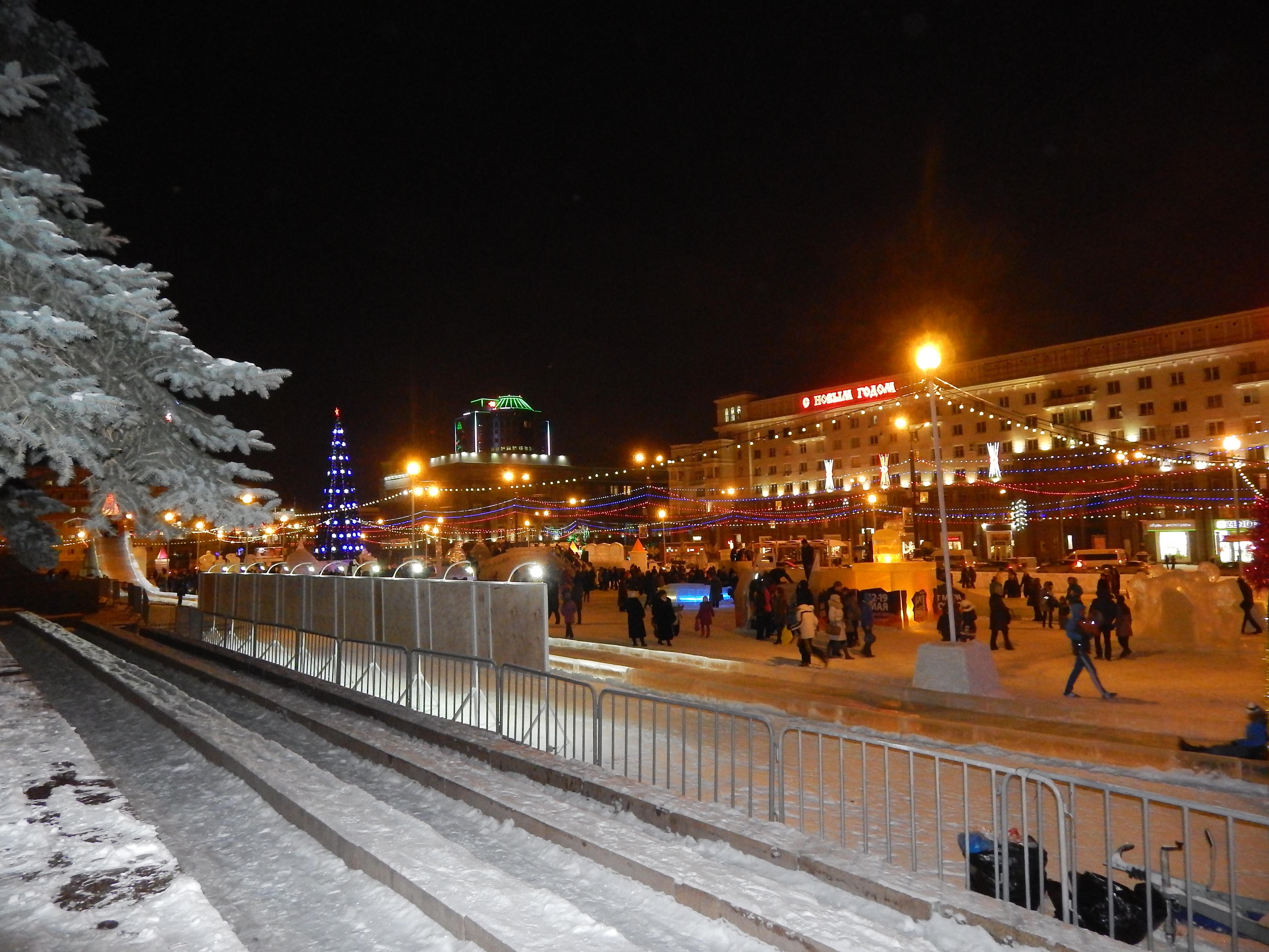 ледовый город Челябинск